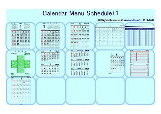 Calendar Menu Schedule+1
